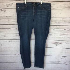 TORRID Denim Stretchy Blue Skinny Jeans Size 22